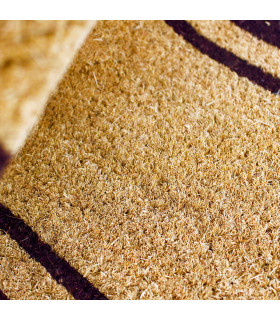 Particolare zerbino fibra di cocco naturale