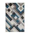 ART - Modern Blue Carpet with a modern design for bedroom, living room, office furniture, 6 sizes