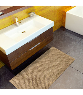 Corn model bathroom rug in beige set