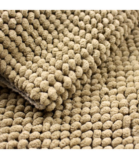 Corn model bathroom rug in beige detail