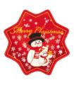 Christmas Star Tappeto di Natale a forma di stella, con fondo antiscivolo, disegno pupazzi di neve