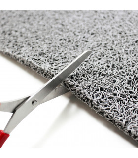 TWIST - GRAY, vinyl outdoor doormat. Tailored. cutting