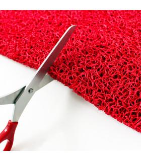 TWIST - red, vinyl outdoor doormat. Tailored. cutting