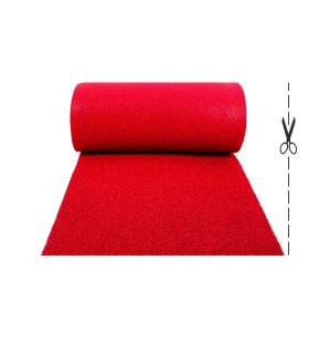 TWIST - red, vinyl outdoor doormat. Tailored. cut