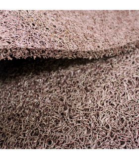 TWIST - BROWN, outdoor vinyl doormat. Tailored. detail