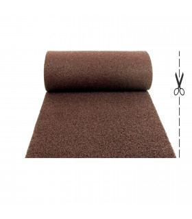 TWIST - BROWN, outdoor vinyl doormat. Tailored. cut