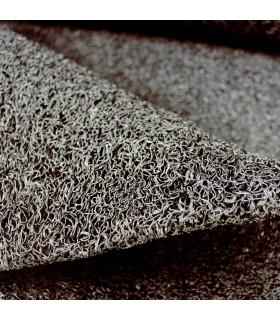 TWIST - NERO, zerbino in ricciolo vinilico da esterno. Su misura. dettaglio