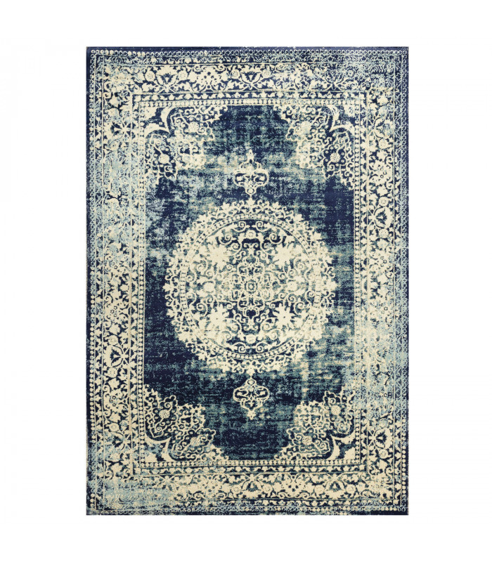 Carpet design CLASSIC ANTIQUE washable assorted measures High QUALITY BLUE-1