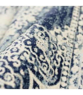 ANTIQUE -BLUE1. Tappeto da arredo classico effetto vintage modello persiano. dettaglio
