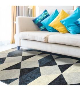 ART - Geometric Blue, tappeto d'arredo di design ambientata