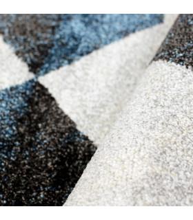 ART - Geometric Blue, tappeto d'arredo di design dettaglio