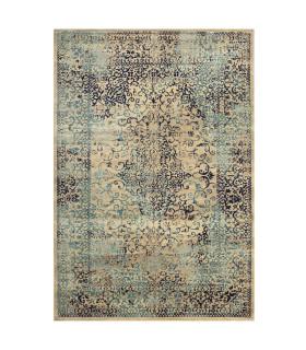 ANTIQUE - Blue 2, tappeto arredo con disegno classico effetto vintage. Misure assortite vetrina