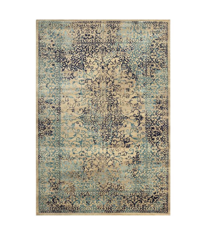 Carpet design CLASSIC ANTIQUE washable assorted measures High QUALITY BLUE-2