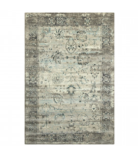 Carpet design CLASSIC ANTIQUE washable assorted measures High QUALITY GREY-LIGHT BLUE