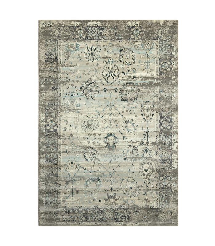 ANTIQUE – Grey Light Blue tappeto arredo con disegno classico effetto vintage. Misure assortite vetrina