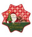 Christmas Star Tappeto di Natale a forma di stella, con fondo antiscivolo, disegno Babbo Natale