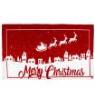SNOW - Merry slitta. Tappeto natalizio antiscivolo in cotone stampato.