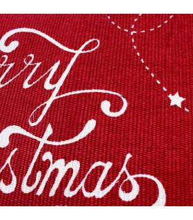 SNOW - Merry tree. Tappeto natalizio antiscivolo in cotone stampato. dettaglio stampa