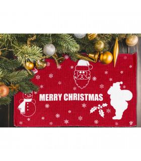 SNOW - Merry mix. Tappeto natalizio antiscivolo in cotone stampato. ambientata