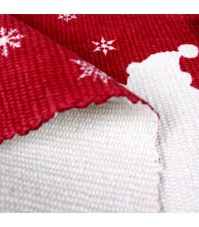 SNOW - Merry mix. Tappeto natalizio antiscivolo in cotone stampato. dettaglio fondo