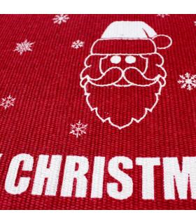 SNOW - Merry mix. Tappeto natalizio antiscivolo in cotone stampato. stampa