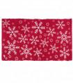 SNOW - Snowflake. Tappeto natalizio antiscivolo in cotone stampato.