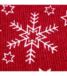 SNOW - Snowflake. Tappeto natalizio antiscivolo in cotone stampato. dettaglio stampa