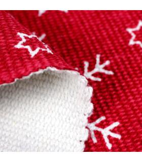 SNOW - Snowflake. Tappeto natalizio antiscivolo in cotone stampato. dettaglio fondo
