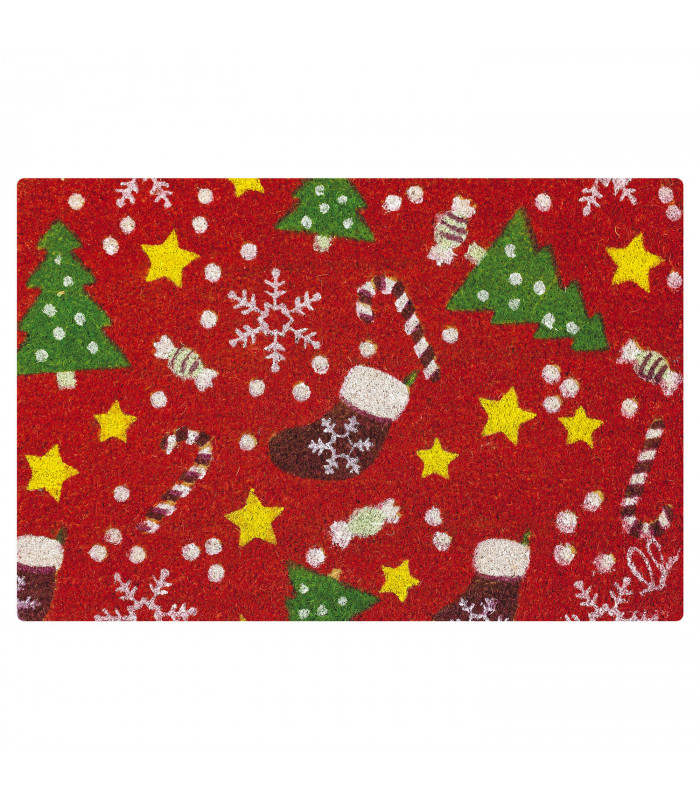 Mat Christmas - Mix decorations, Christmas themed welcome mat in coconut