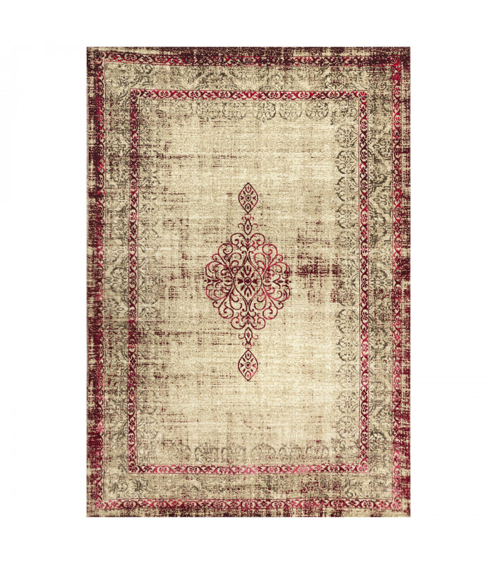 ANTIQUE - Red 1, furniture rug with classic vintage effect design. Assorted measures