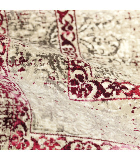 ANTIQUE - Red 1, furniture rug with classic vintage effect design. Assorted measures detail