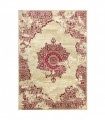 ANTIQUE - Red 2, furniture rug with classic vintage effect design. Assorted measures