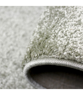 TREND - Sage, Modern plain carpet, available in various sizes. detail one