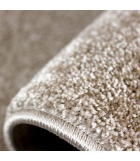 TREND - Beige, Modern plain carpet, available in various sizes. detail 2