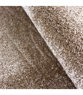 TREND - Beige, Modern plain carpet, available in various sizes. detail 3