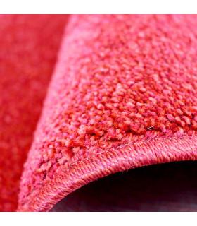 TREND - Rosso, Tappeto moderno in tinta unita, disponibile in varie misure. dettaglio bordo