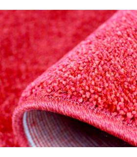 TREND - Rosso, Tappeto moderno in tinta unita, disponibile in varie misure. dettaglio fondo