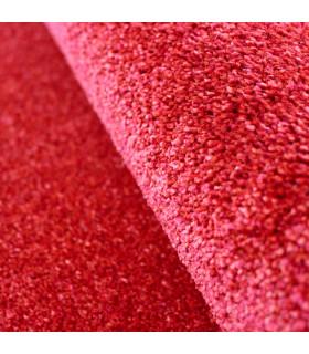 TREND - Rosso, Tappeto moderno in tinta unita, disponibile in varie misure. dettaglio pelo