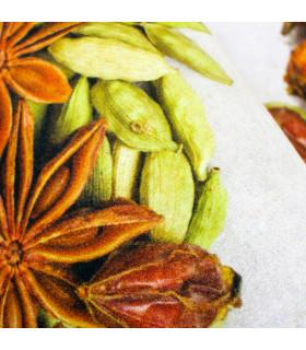 Tappeto cucina mod. MIAMI passatoia disegno digitale antiscivolo varie misure variante SPICES particolare