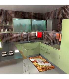 Tappeto cucina mod. MIAMI passatoia disegno digitale antiscivolo varie misure variante SPICES ambiente