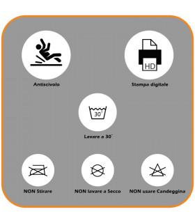 Tappeto cucina mod. MIAMI passatoia disegno digitale antiscivolo varie misure variante MELOGRANO caratteristiche tecniche
