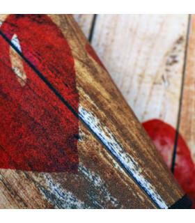 Tappeto cucina mod. MIAMI passatoia disegno digitale antiscivolo varie misure variante HEARTS particolare