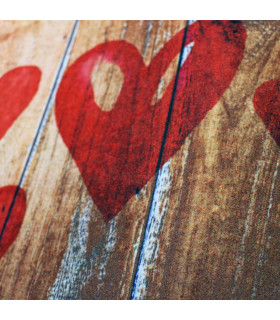 Tappeto cucina mod. MIAMI passatoia disegno digitale antiscivolo varie misure variante HEARTS zoom