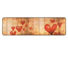 Tappeto cucina mod. MIAMI passatoia disegno digitale antiscivolo varie misure variante HEARTS