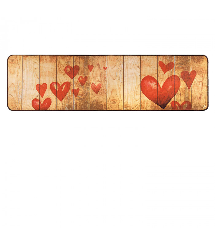 Kitchen rug mod. MIAMI non-slip digital drawing stroller various sizes HEARTS variant