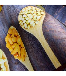 MIAMI 2 - Spices grey. Tappeto a corsia, lavabile e antiscivolo da cucina. dettaglio cucchiai