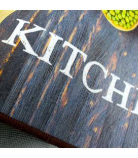 MIAMI 2 - Spices grey. Tappeto a corsia, lavabile e antiscivolo da cucina. dettaglio