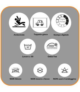 Tappeto da gioco per Bambini modello ROAD DIGITAL  - AEREOPORTO etichetta
