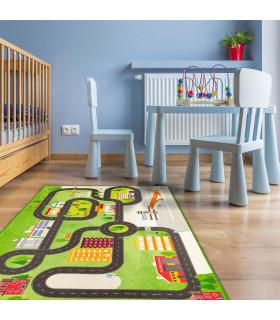 Tappeto da gioco per Bambini modello ROAD DIGITAL  - AEREOPORTO ambientata
