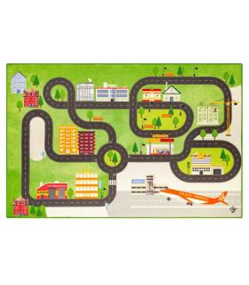 Tappeto da gioco per Bambini modello ROAD DIGITAL  - AEREOPORTO